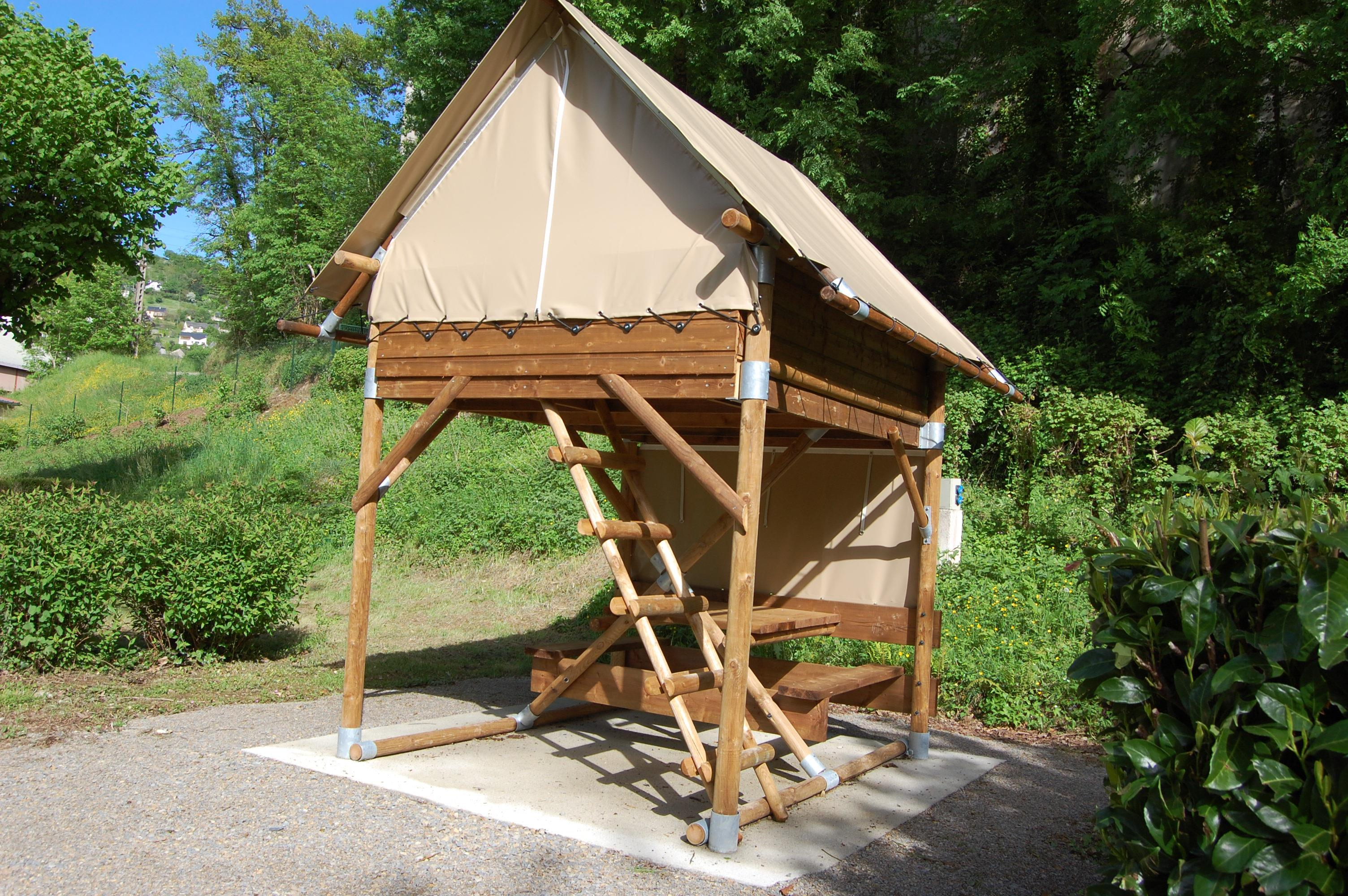 Tente Bivouac + Electricity 10A - Without Toilet Blocks