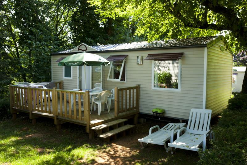 Location - Mobil Home 3 Chambres Samedi Au Samedi Avec Terrasse - Camping Les Grottes de Roffy