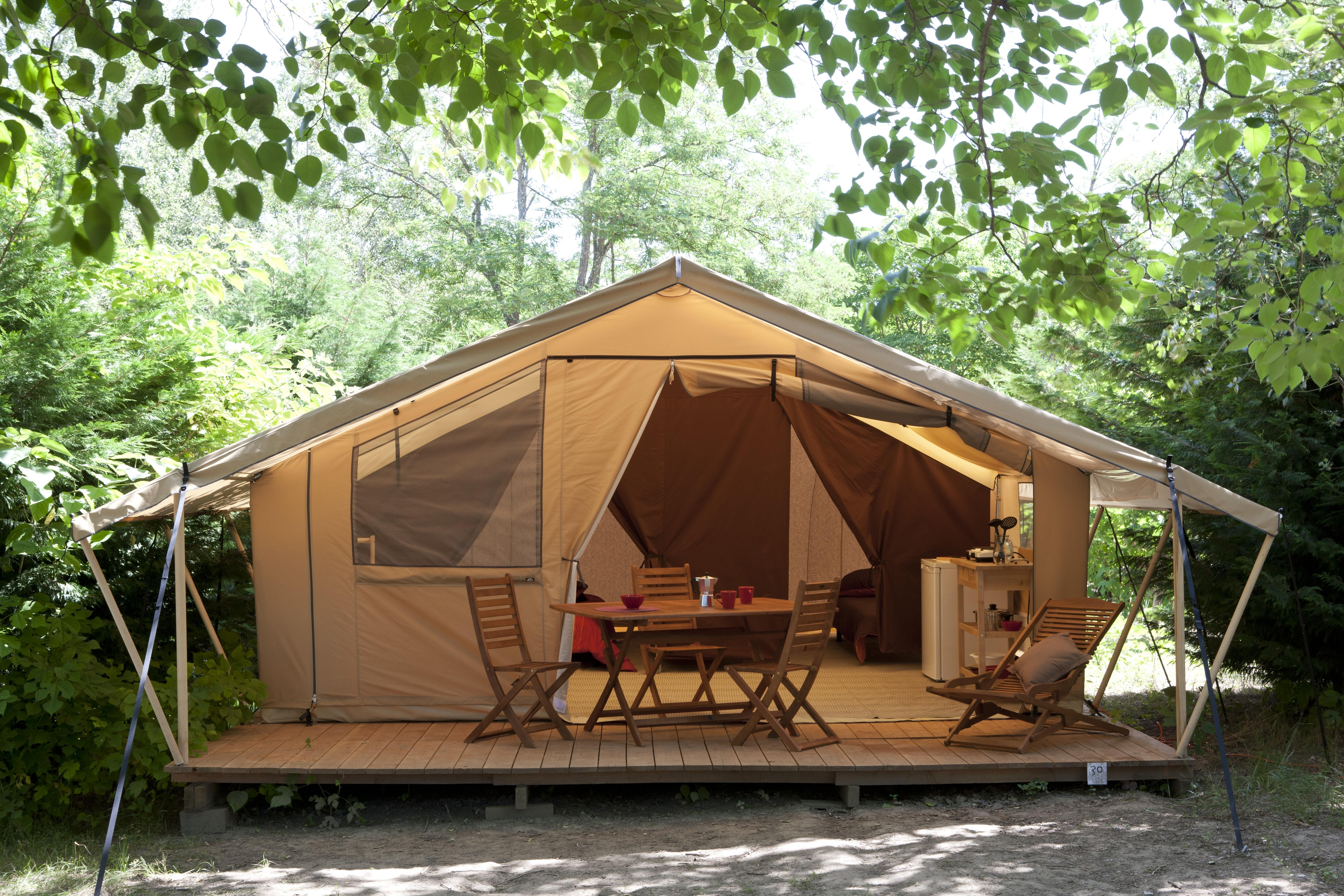 Location - Tente Safari - Camping Les Grottes de Roffy