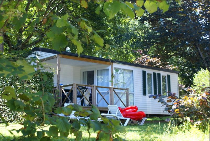 Location - Mobil Home 2 Chambres - Terrasse - Camping Les Grottes de Roffy