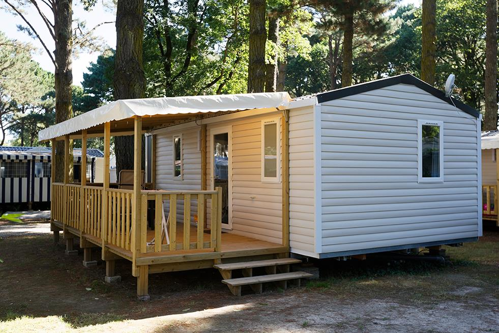 Location - Mobil Home Confort 2 Chambres Formules Nuit - Camping Château Du Petit Bois