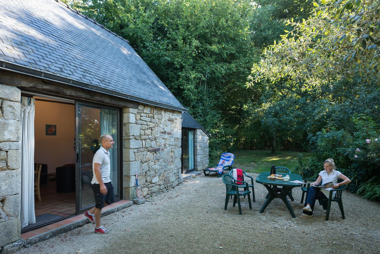Location - Maison Du Champ 50M² - Camping Castel L'Orangerie de Lanniron