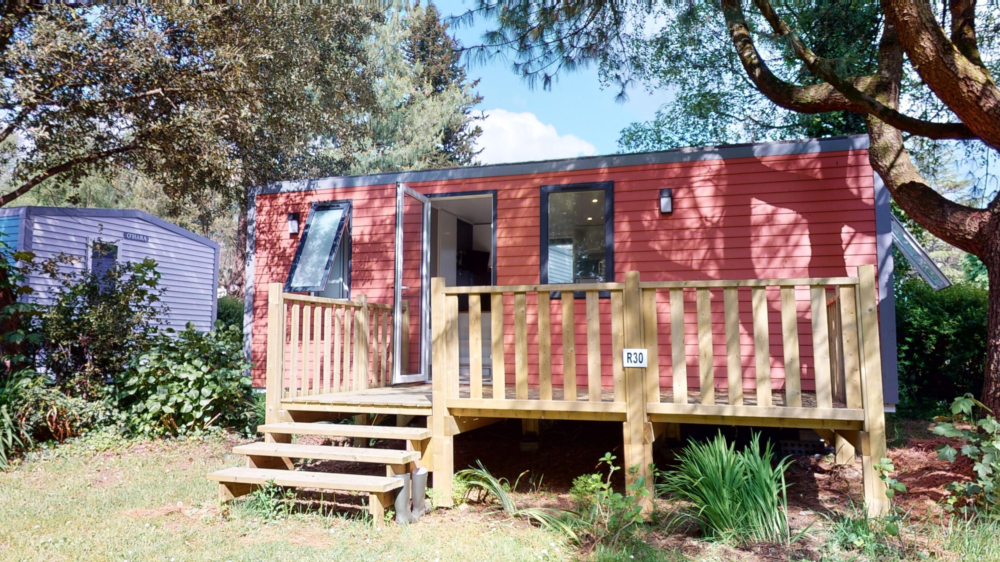 Location - Cottage Evasion 2 Chambres 1 Salle De Bain  29 M² + Terrasse En Bois 12,5M² - Nouveau 2019 - Camping Castel L'Orangerie de Lanniron