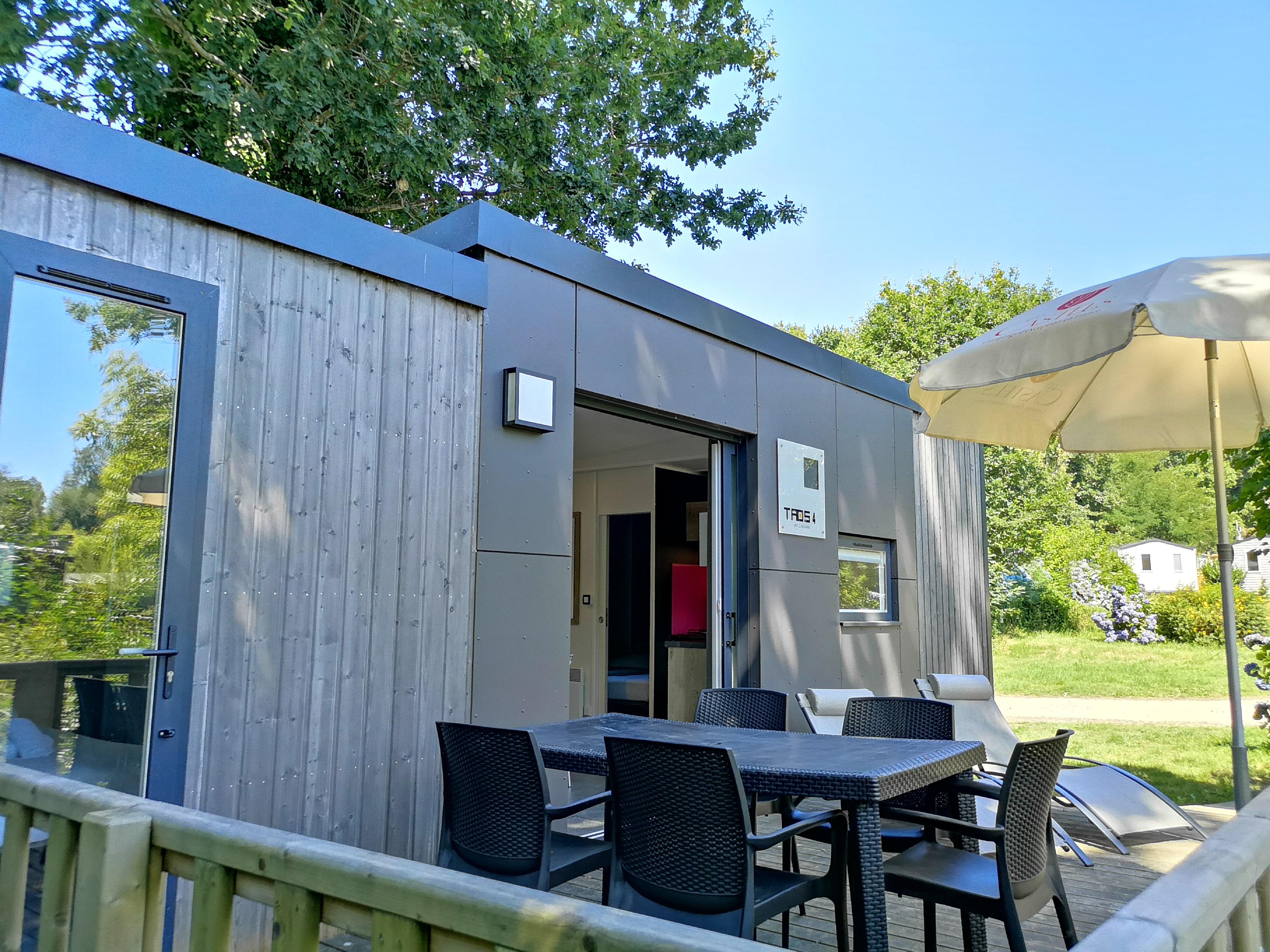 Location - Taos Nature Luxe 2 Ch 2 Salles De Bain 38 M² + Terrasse En Bois 18 M²- Lits Faits À L'arrivée Et Serviettes Fournies - Camping Castel L'Orangerie de Lanniron