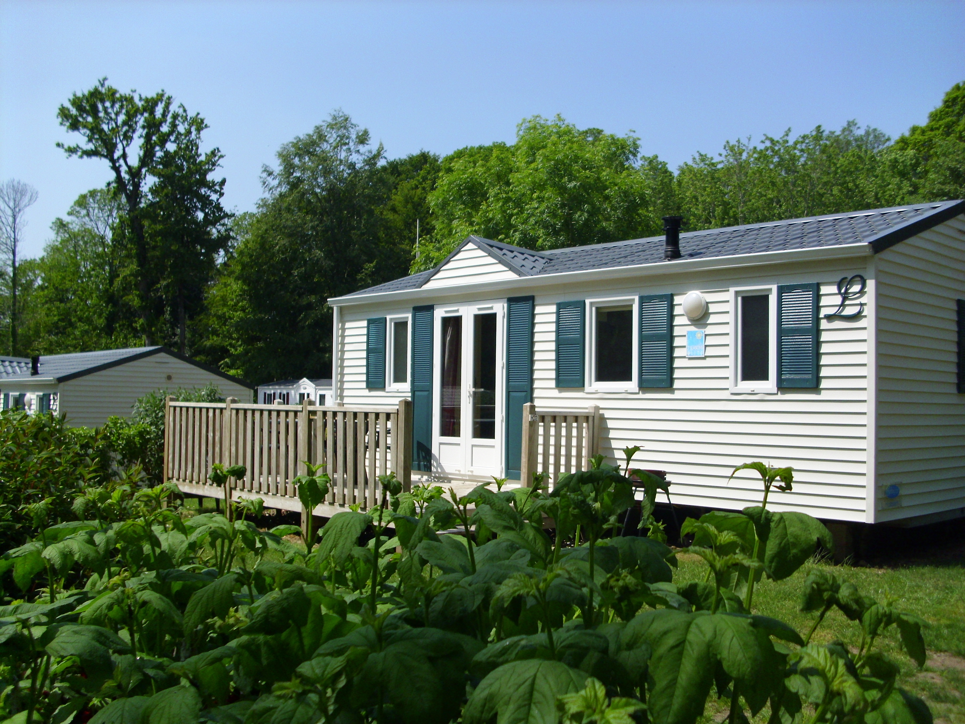 Location - Mobil Home Classique - 3 Chambres - 1 Salle De Bain - Camping Castel L'Orangerie de Lanniron