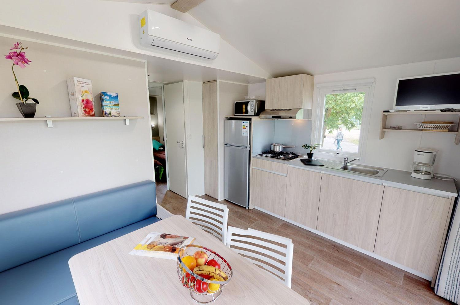 Accommodation - Mobile Home Voilier 2 Bedrooms 27M² 2014/2020/2021 - Camping Ile de la Comtesse