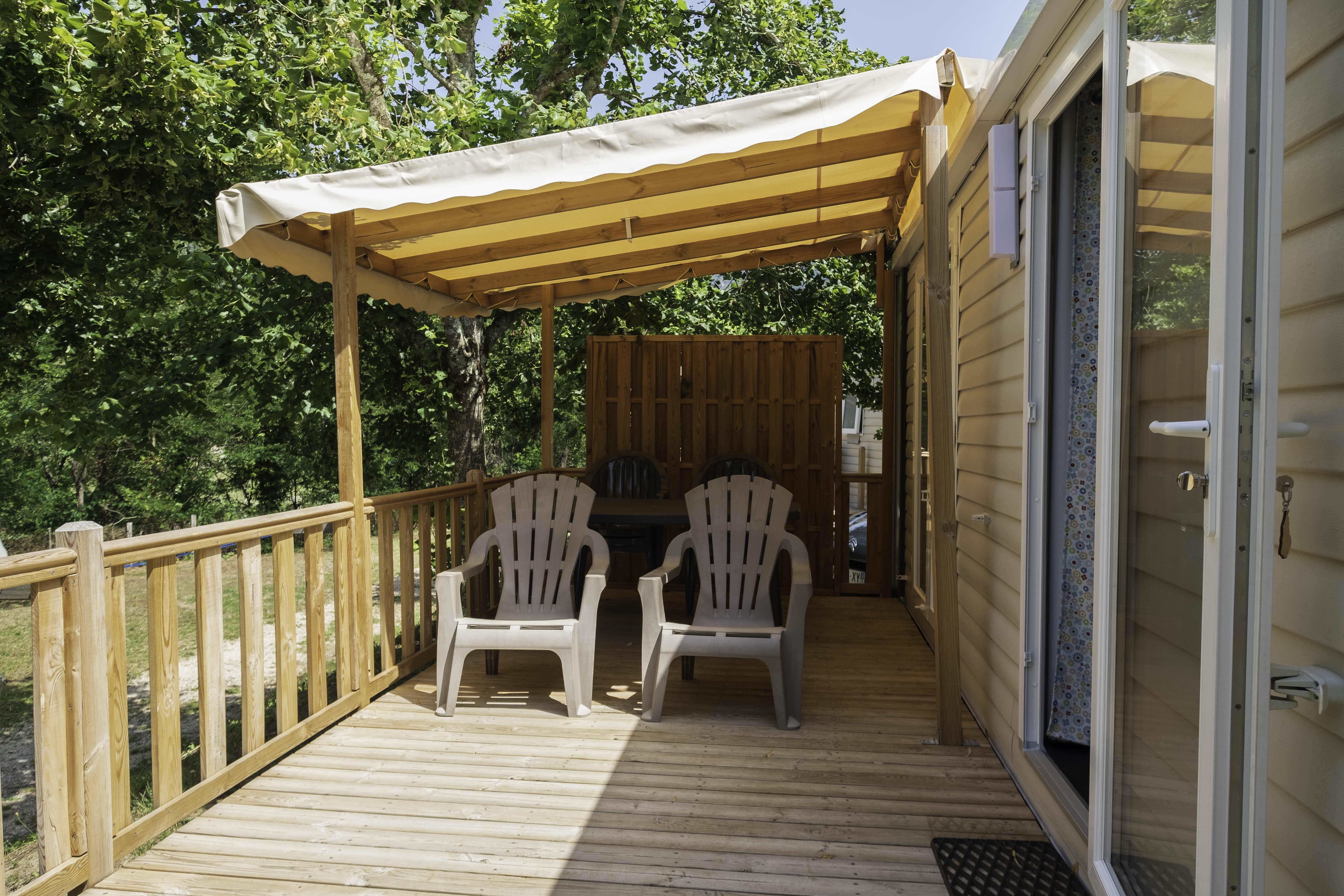 Location - Cottage Mercure 5P  2 Chambres - Camping Mas de Champel
