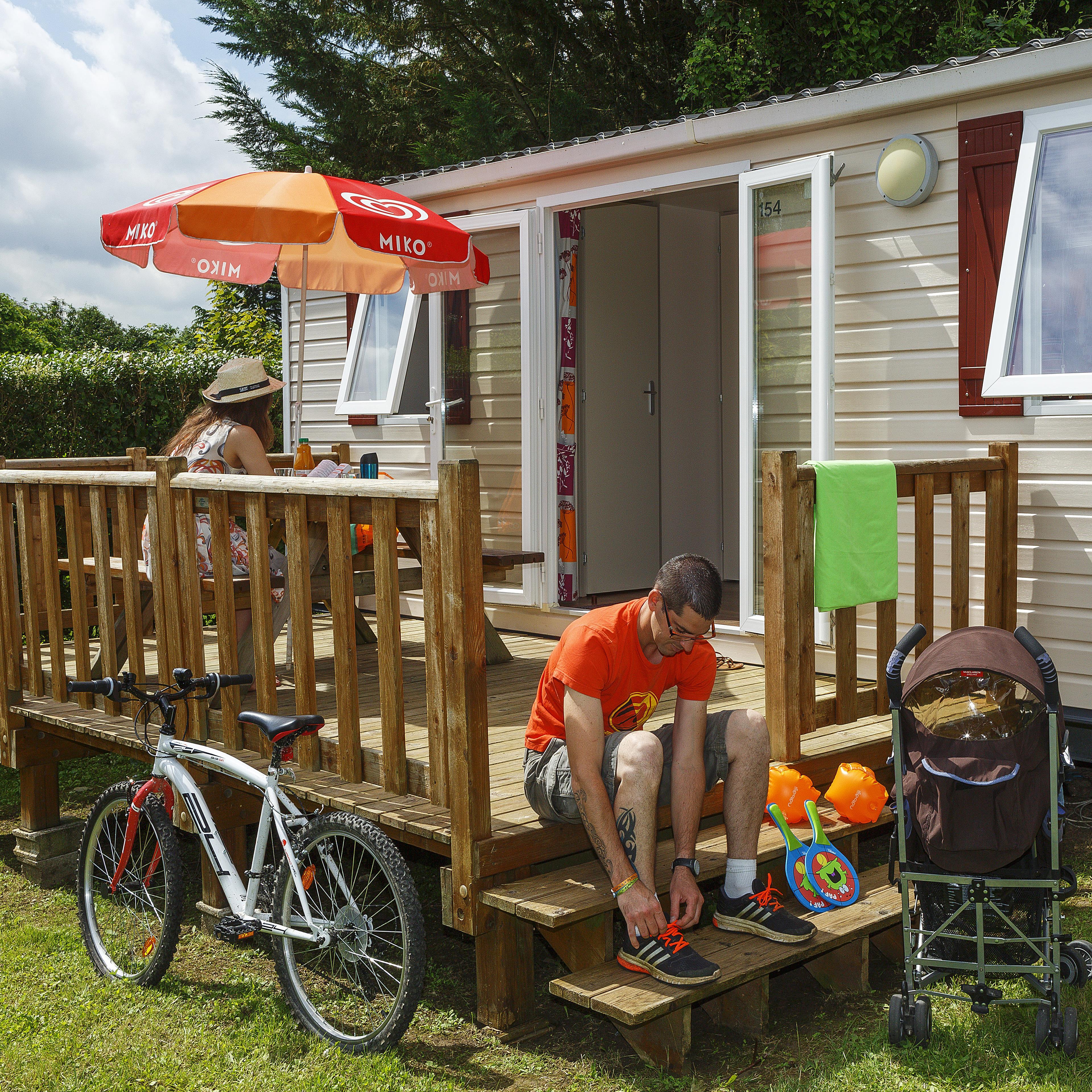 Location - Mobil-Home Club - 25M² - 2 Chambres - Camping Le Village Parisien