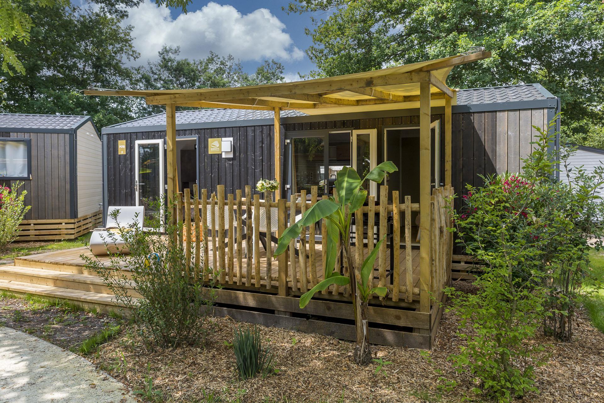 Location - Cottage Cocoon 2 Chambres Climatisé Premium - Camping Sandaya Sanguinet Plage