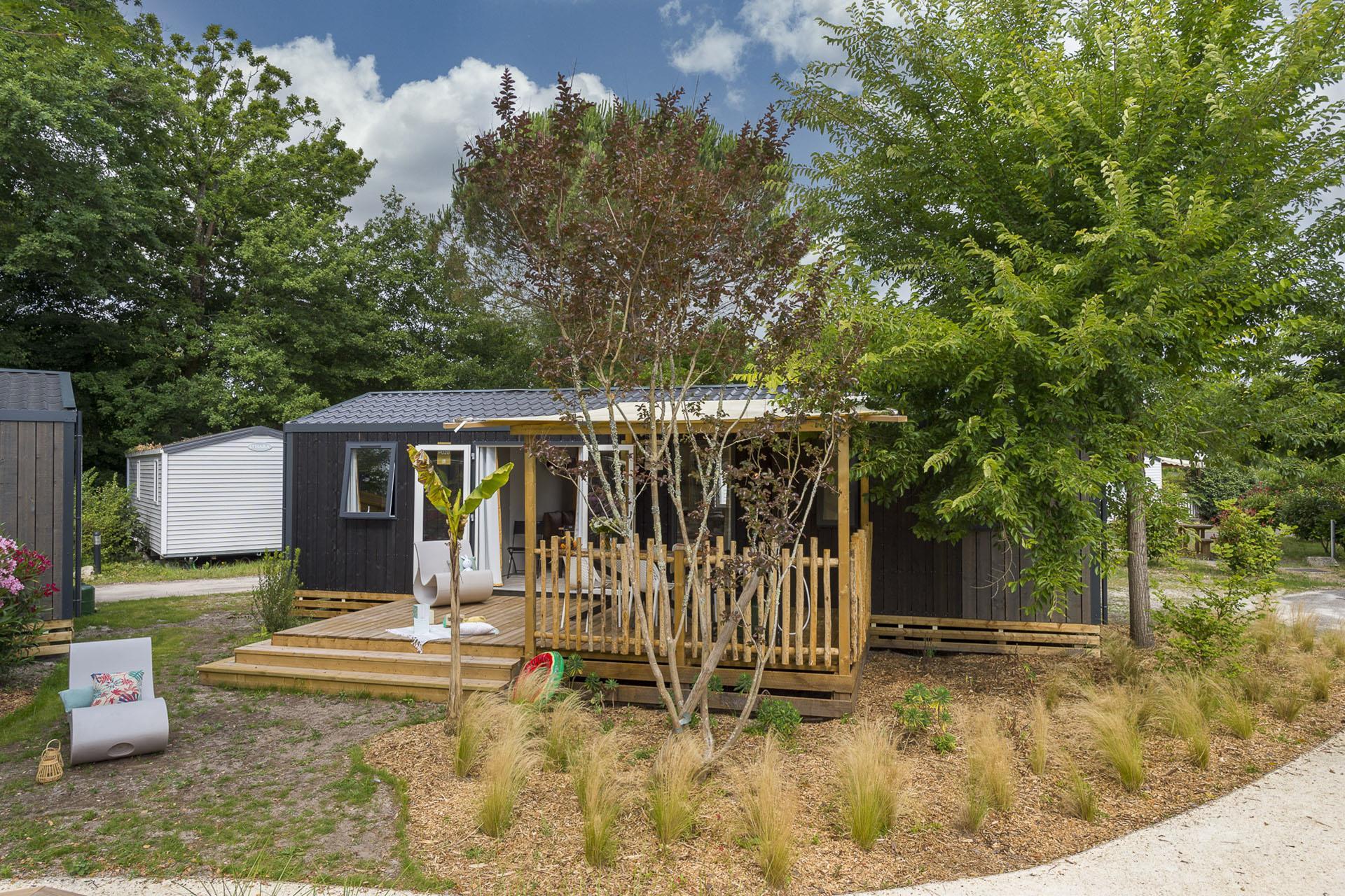 Location - Cottage Cocoon 3 Chambres Climatisé Premium - Camping Sandaya Sanguinet Plage