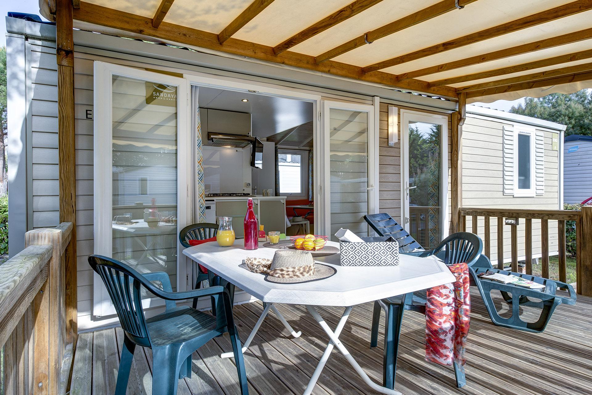 Location - Cottage 2 Chambres **** - Camping Sandaya Sanguinet Plage