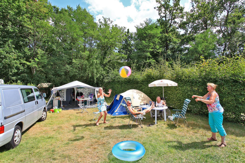 Emplacement - Emplacement Grand Confort - Electricité 10 A - Eau - Evacuation - - Camping Castel Parc de Fierbois
