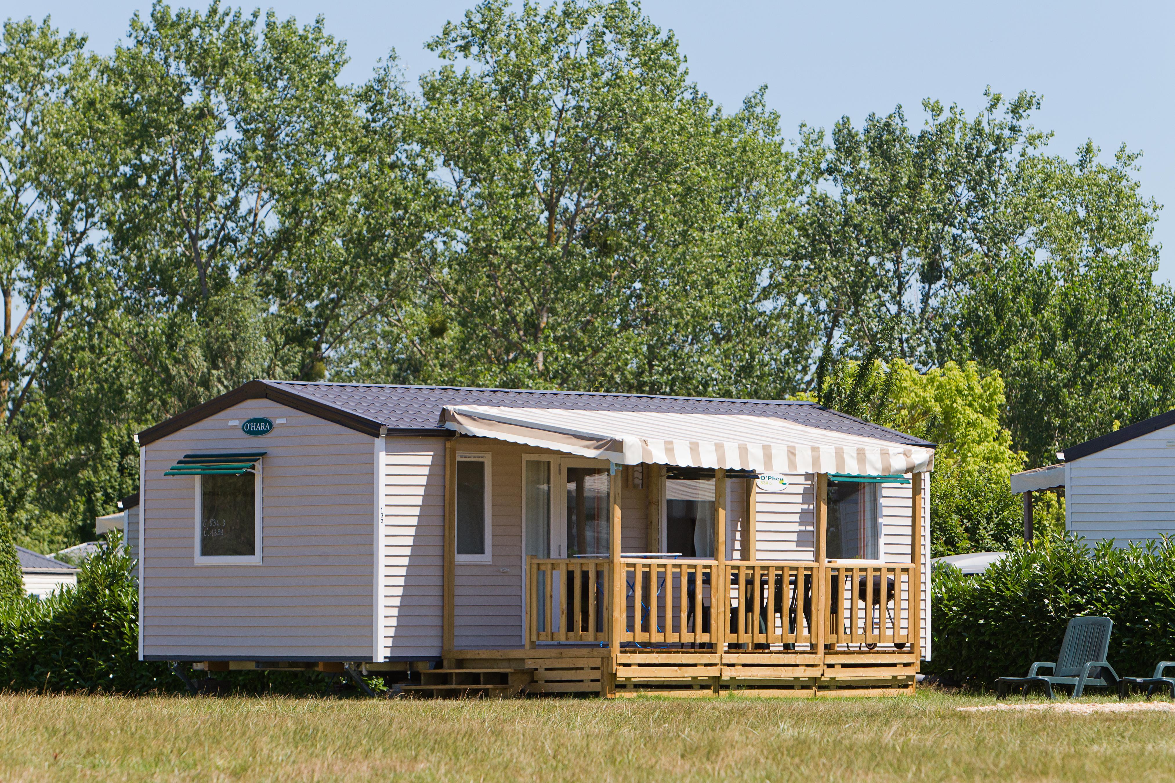 Location - Mobil-Home - 3 Chambres - 1 Salle De Bain - Classique - Camping Castel Parc de Fierbois