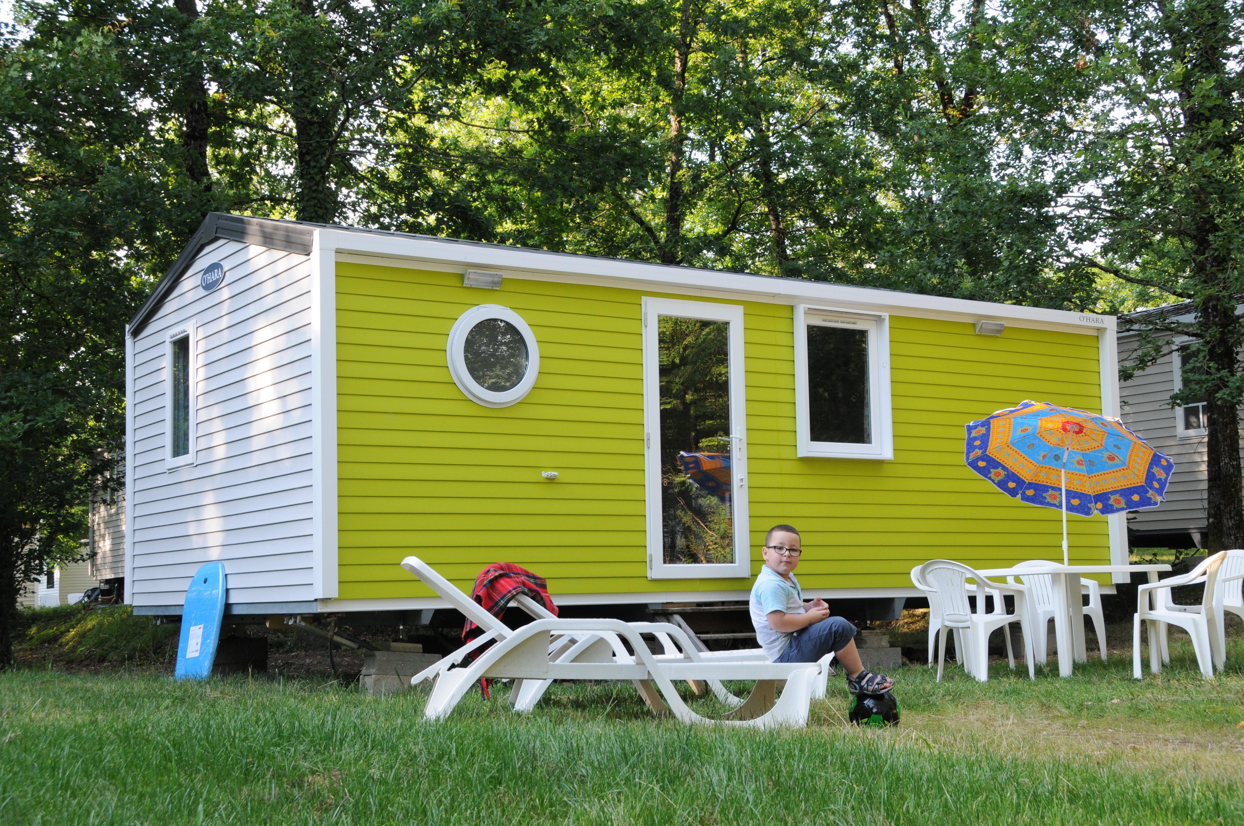 Location - Mobil-Home - 2 Chambres - 1 Salle De Bain - Sans Terrasse - Camping Castel Parc de Fierbois