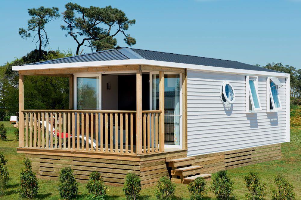 Mobilhome OHARA 25m² - 2 chambres, terrasse intégrée Façade 7.3m²
