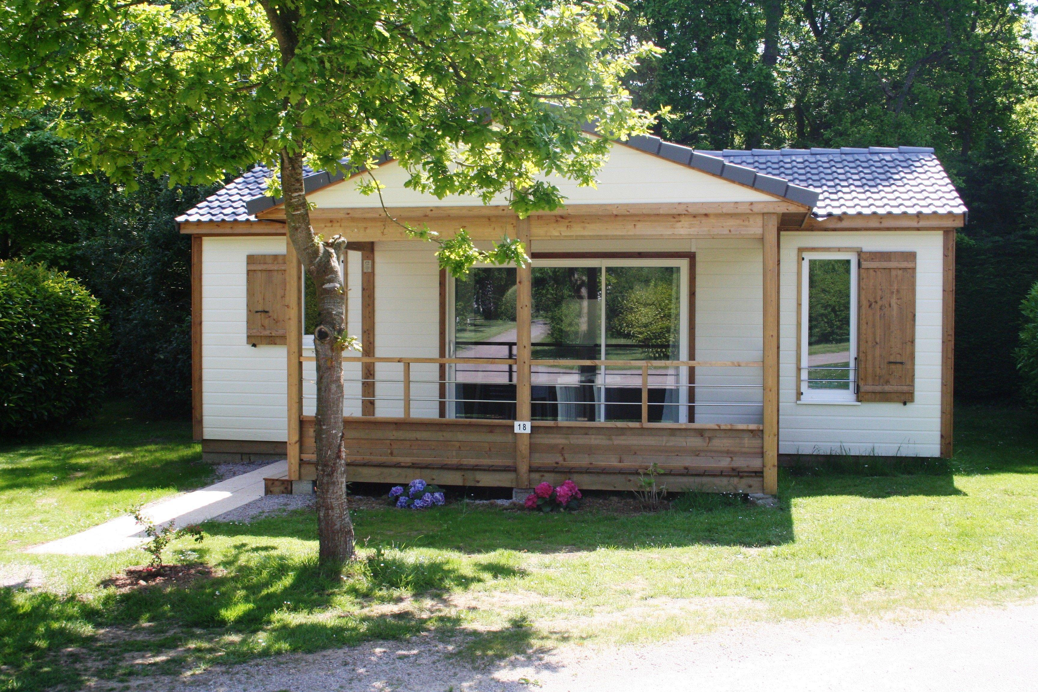Location - Chalet Privilege 3 Chambres Avec Lave-Vaisselle - Camping Sites et Paysages Bellevue