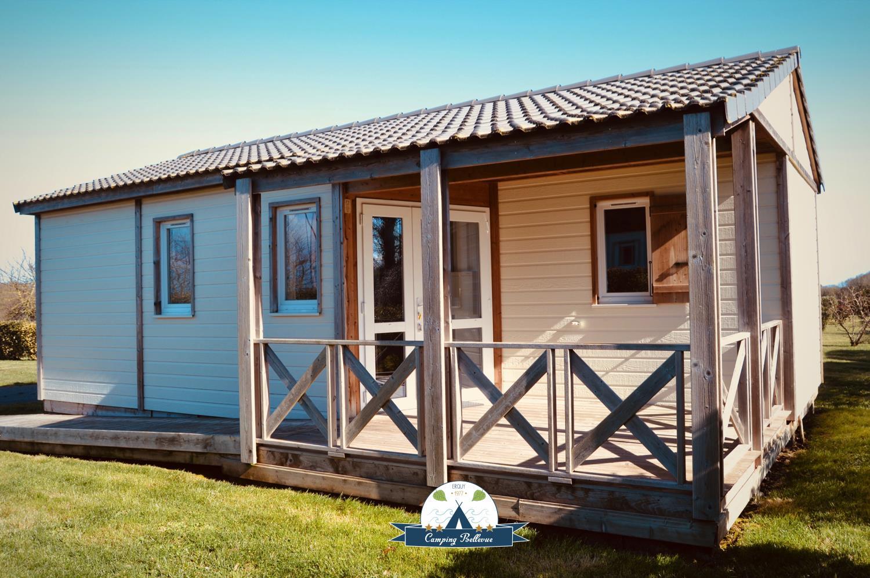 Location - Chalet Confort Pmr 2 Chambres - Camping Sites et Paysages Bellevue