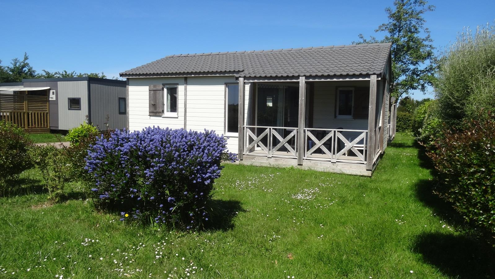 Location - Chalet Confort 2 Chambres - Camping Sites et Paysages Bellevue