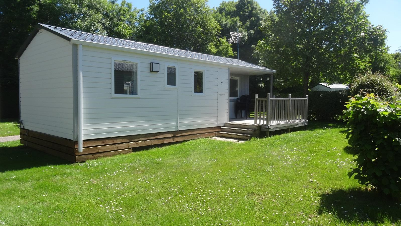 Location - Mobilhome Confort 3 Chambres - Camping Sites et Paysages Bellevue
