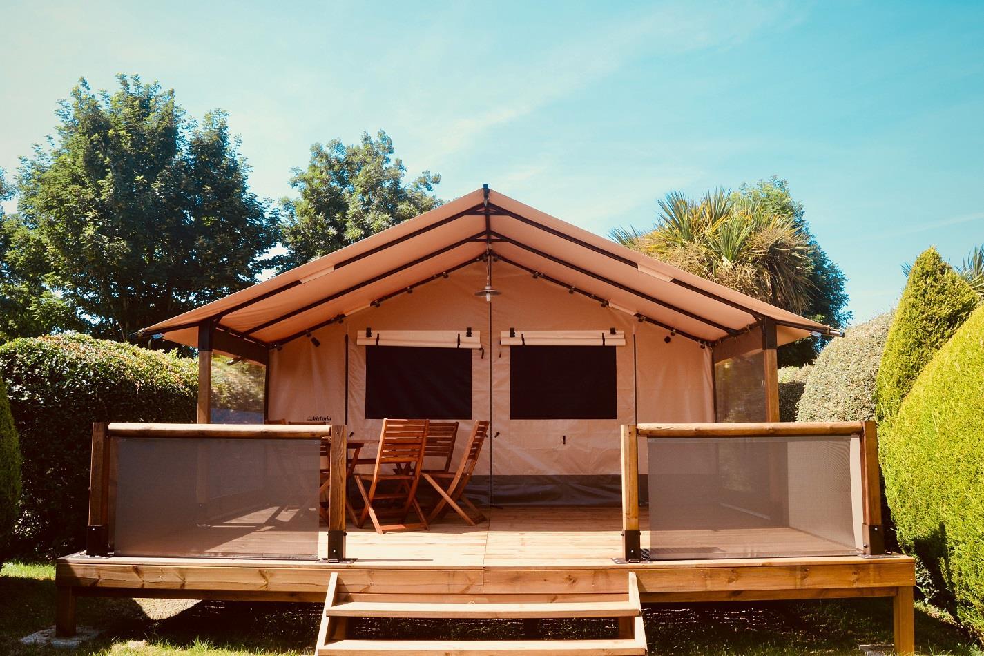 Location - Lodge Pilotis - 2 Chambres - Sans Sanitaires - Camping Sites et Paysages Bellevue