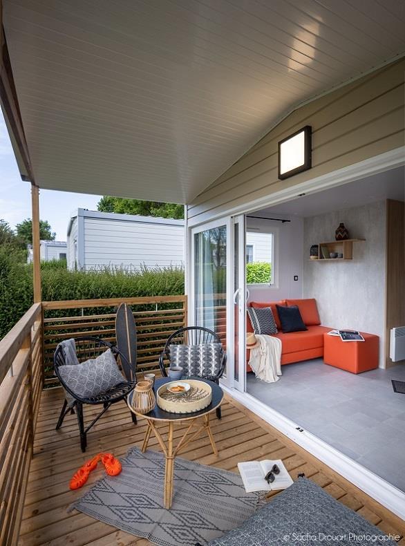 Location - Mobilhome Confort 2 Chambres Lit En 140 Ou 160 - Camping Sites et Paysages Bellevue