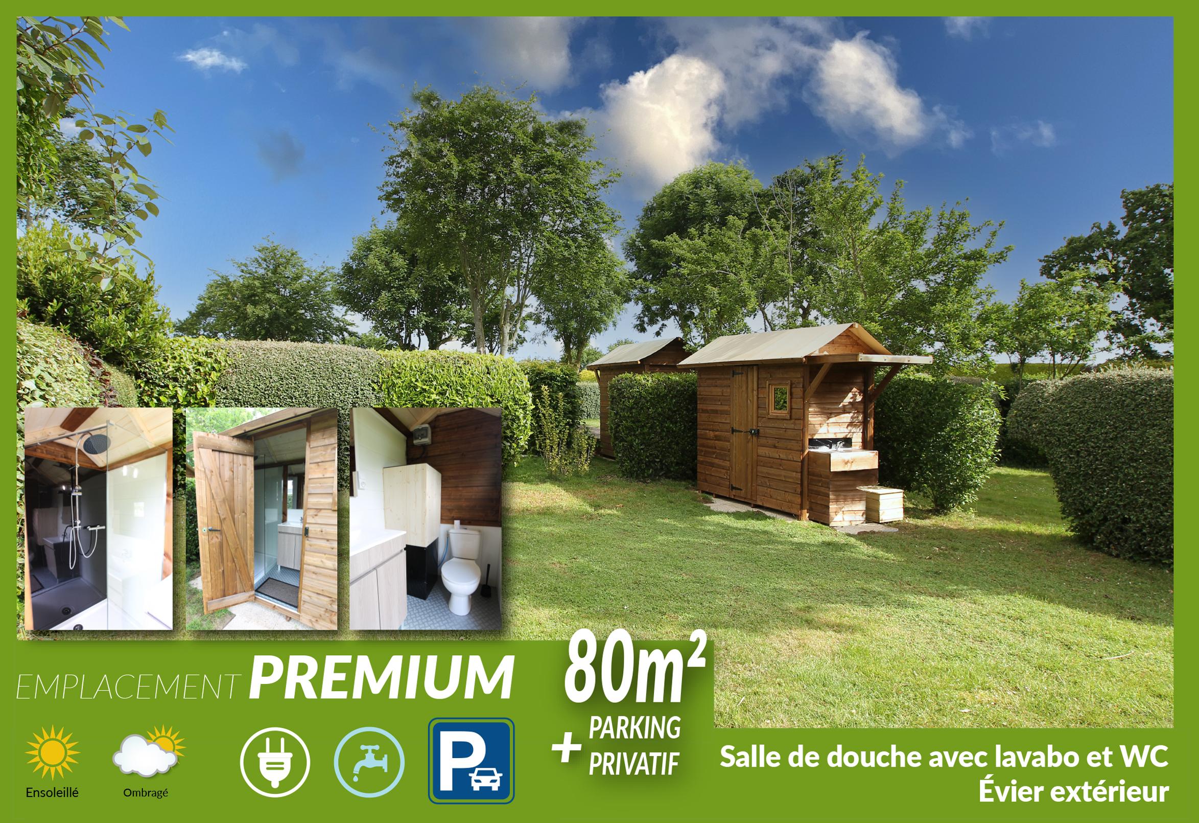 Emplacement - Emplacement Premium (Sanitaire Privé: Douche, Toilettes, Lavabo Et Évier Extérieur) - Camping Sites et Paysages Bellevue
