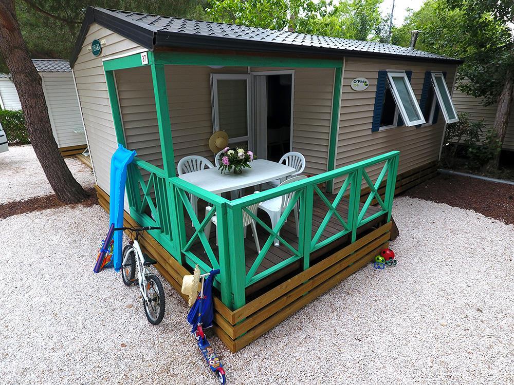 Location - Mobilhome Climatisé - Camping Domaine des Champs Blancs