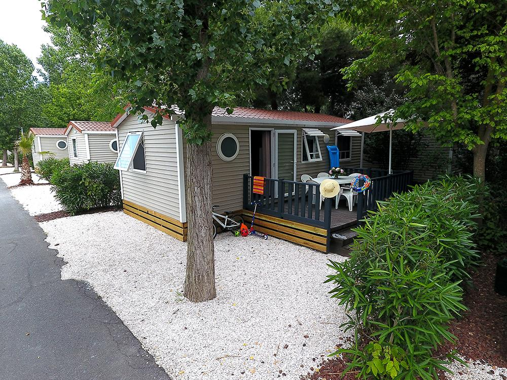 Location - Mobilhome Confort (Climatisation + Tv) - Camping Domaine des Champs Blancs