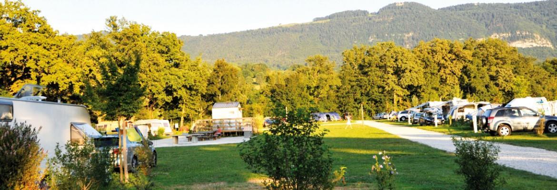 Camping la Colombiere, Neydens, Haute-Savoie