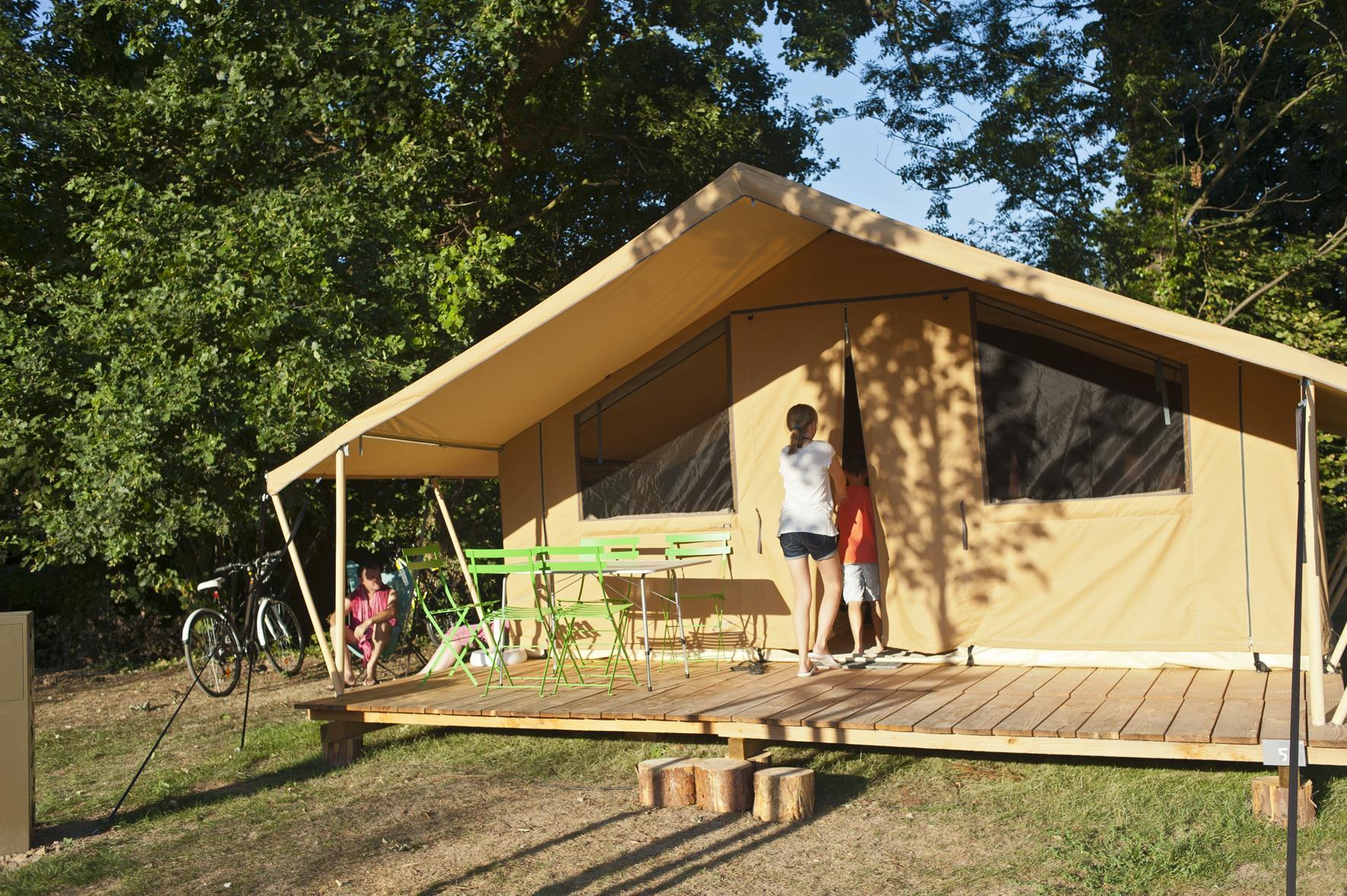 Location - Tente Safari 5 Pers. - Camping Forcalquier