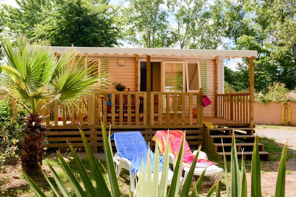 Location - Mobile Home Azurea + 22M² / 2 Chambres - Terrasse En Bois + Climatisation - Cuisine D'été - Camping Les Pêcheurs