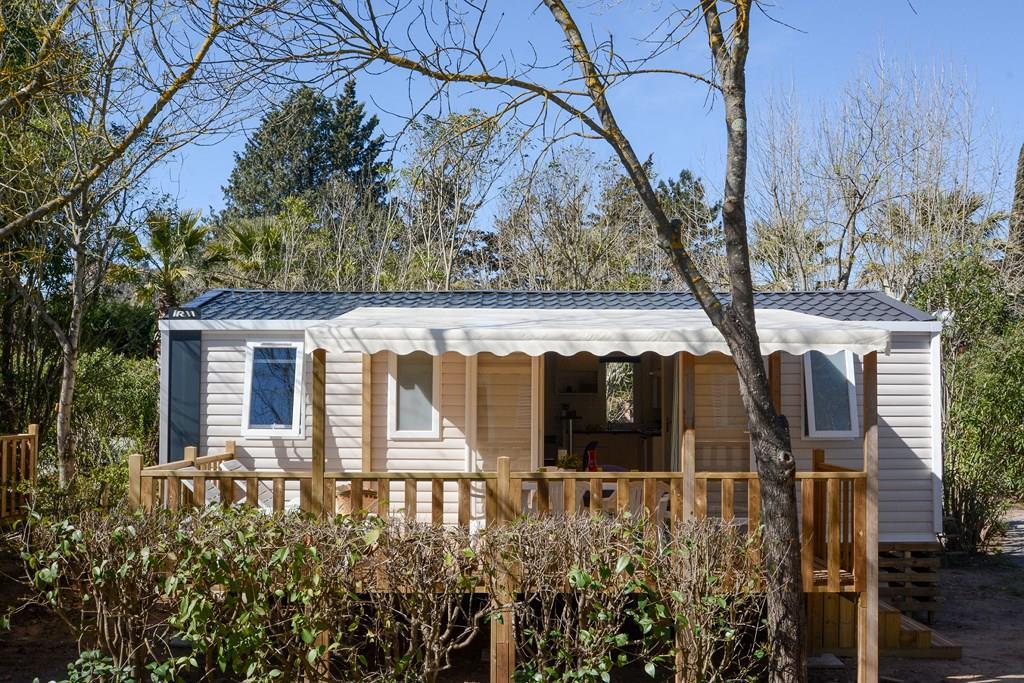 Location - Mobile Home Cottage 2018  32M² / 3 Chambres - Terrasse Semi Couverte + Climatisation + Lave-Vaisselle - Camping Les Pêcheurs