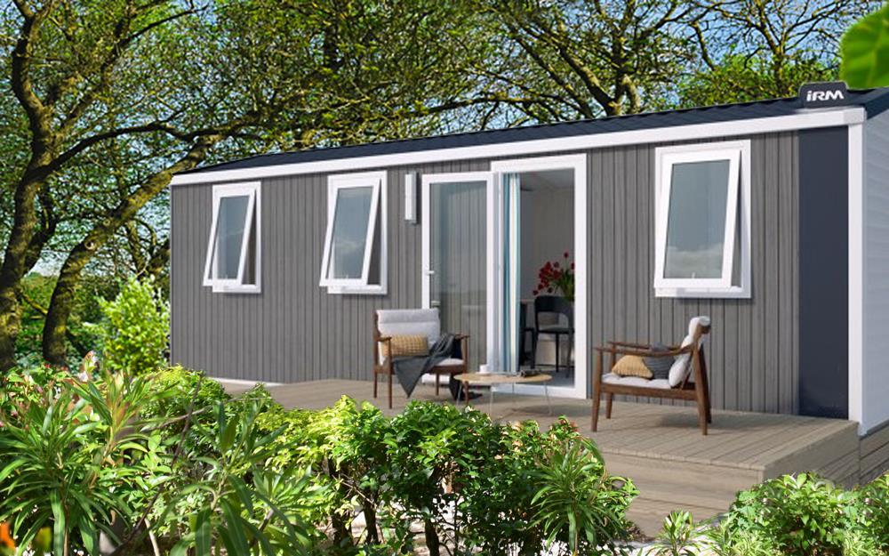 Location - Mobil Home Riviera + 22M² / 2 Chambres - Terrasse En Bois + Climatisation - Camping Les Pêcheurs