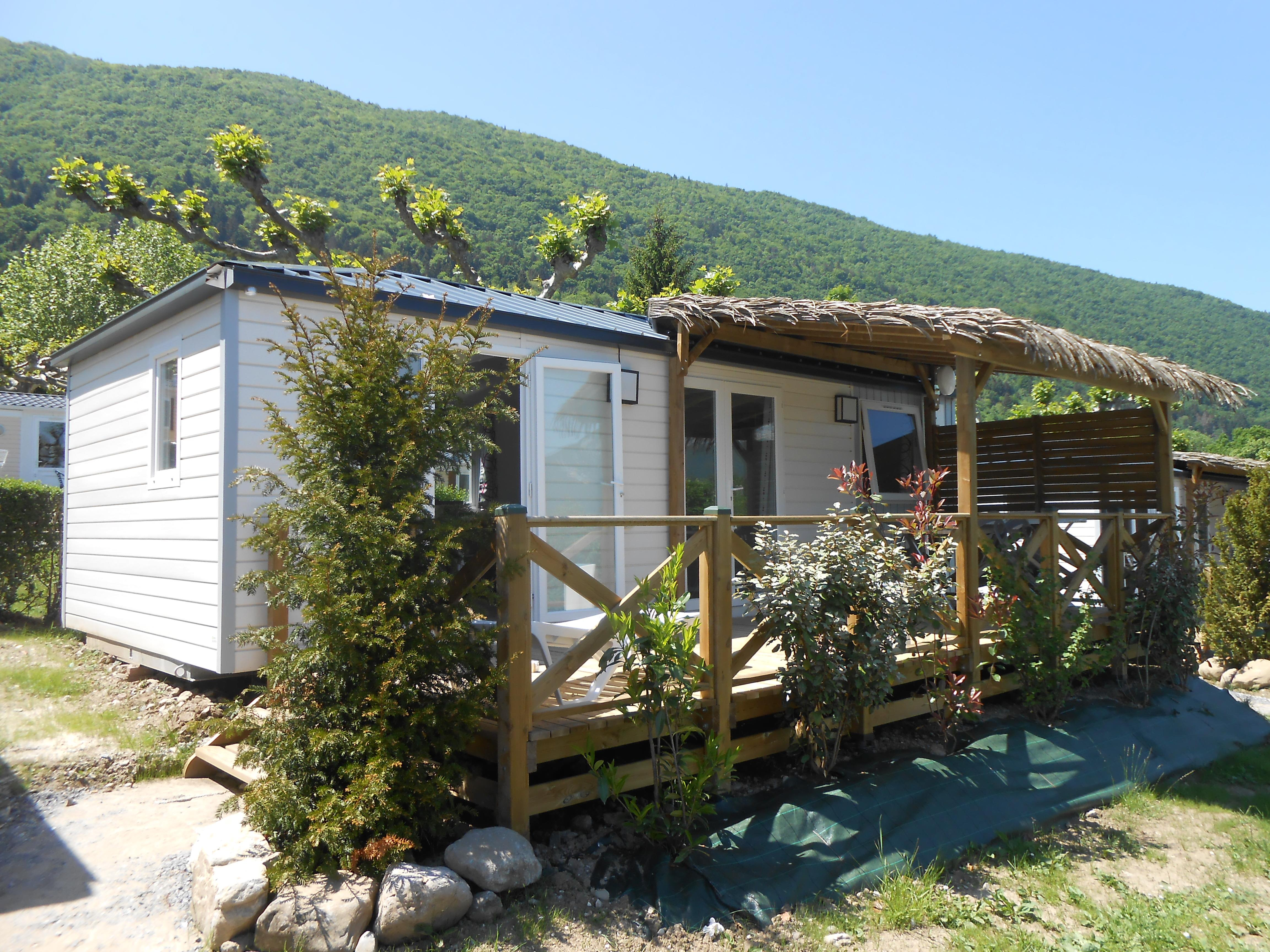 Location - Mobil Home Grand Large 30M² - Terrasse Semi Couverte - Camping Le Panoramic