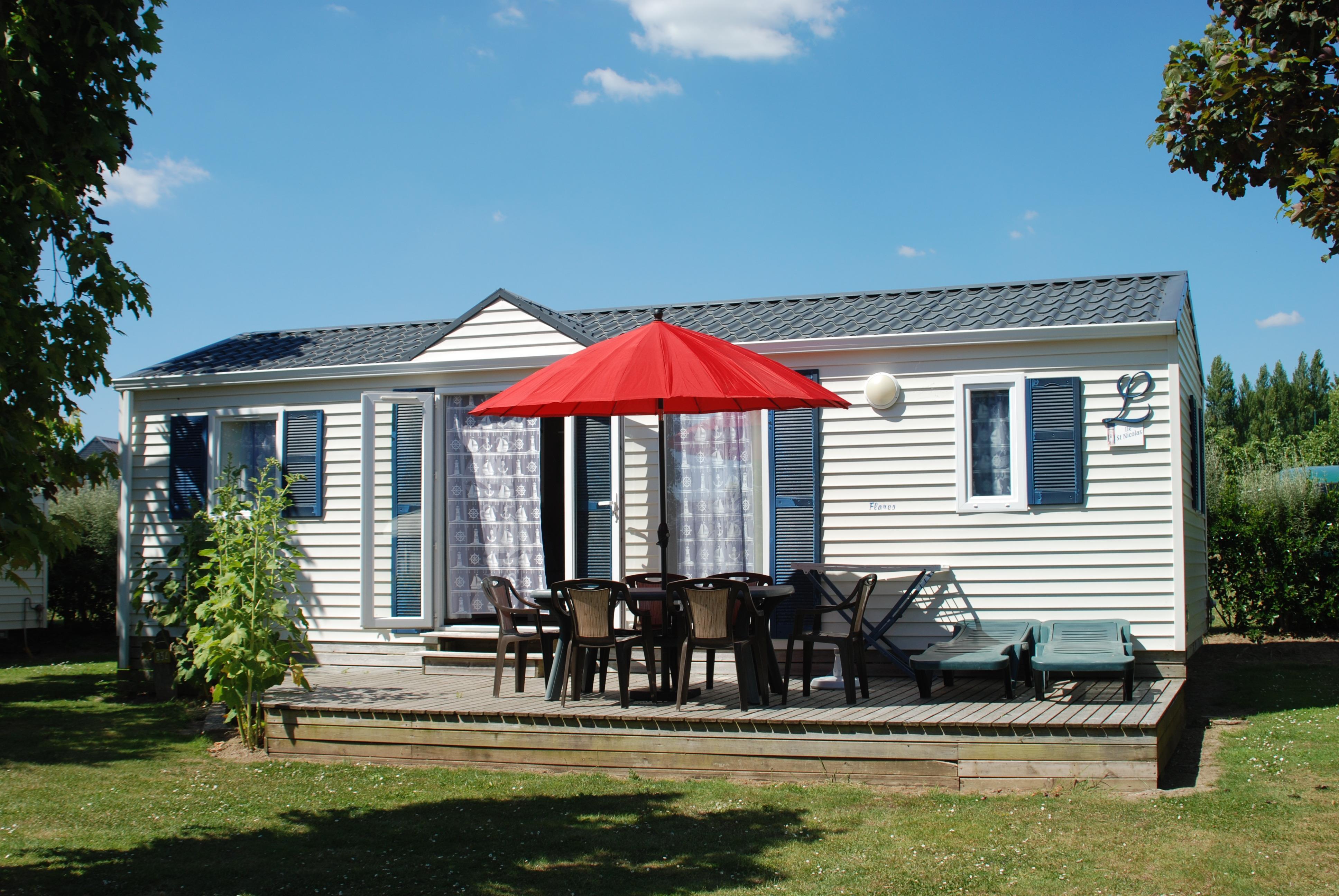 Location - D-Cottage Nautique Avec Terrasse - Camping Les Embruns