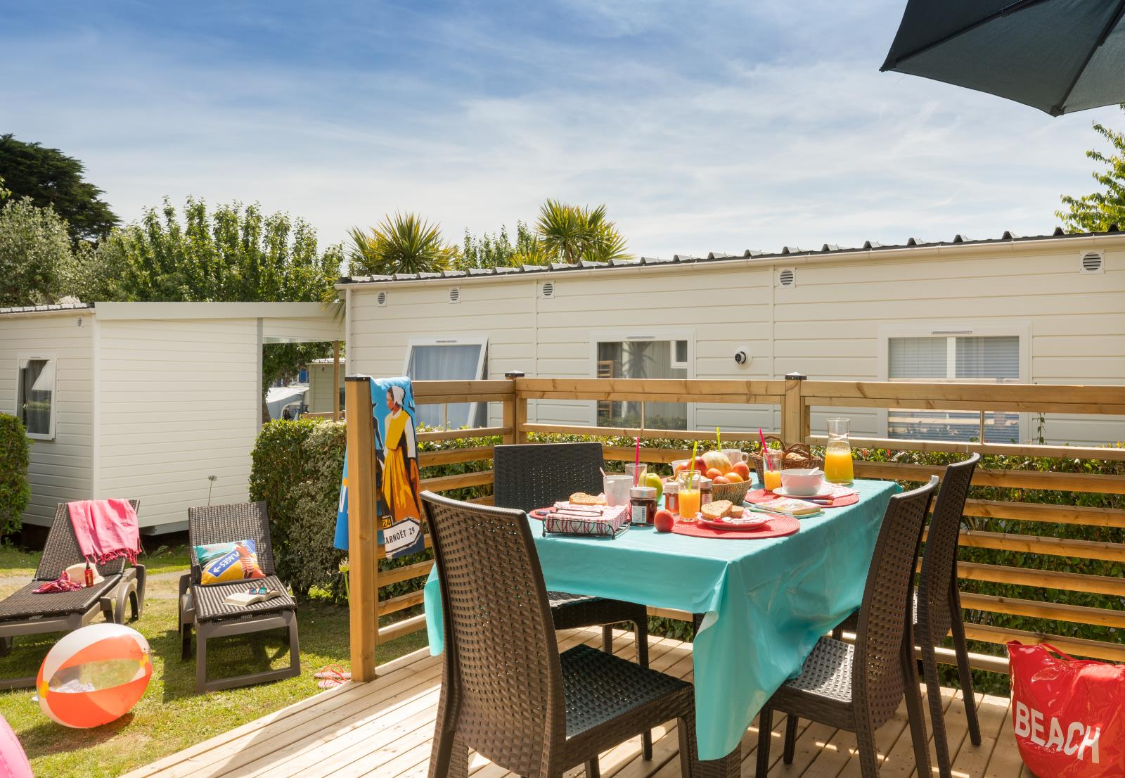 Location - L-Cottage Ty Armorik Terrasse Semi Couverte  Modèle 2018 - Camping Les Embruns