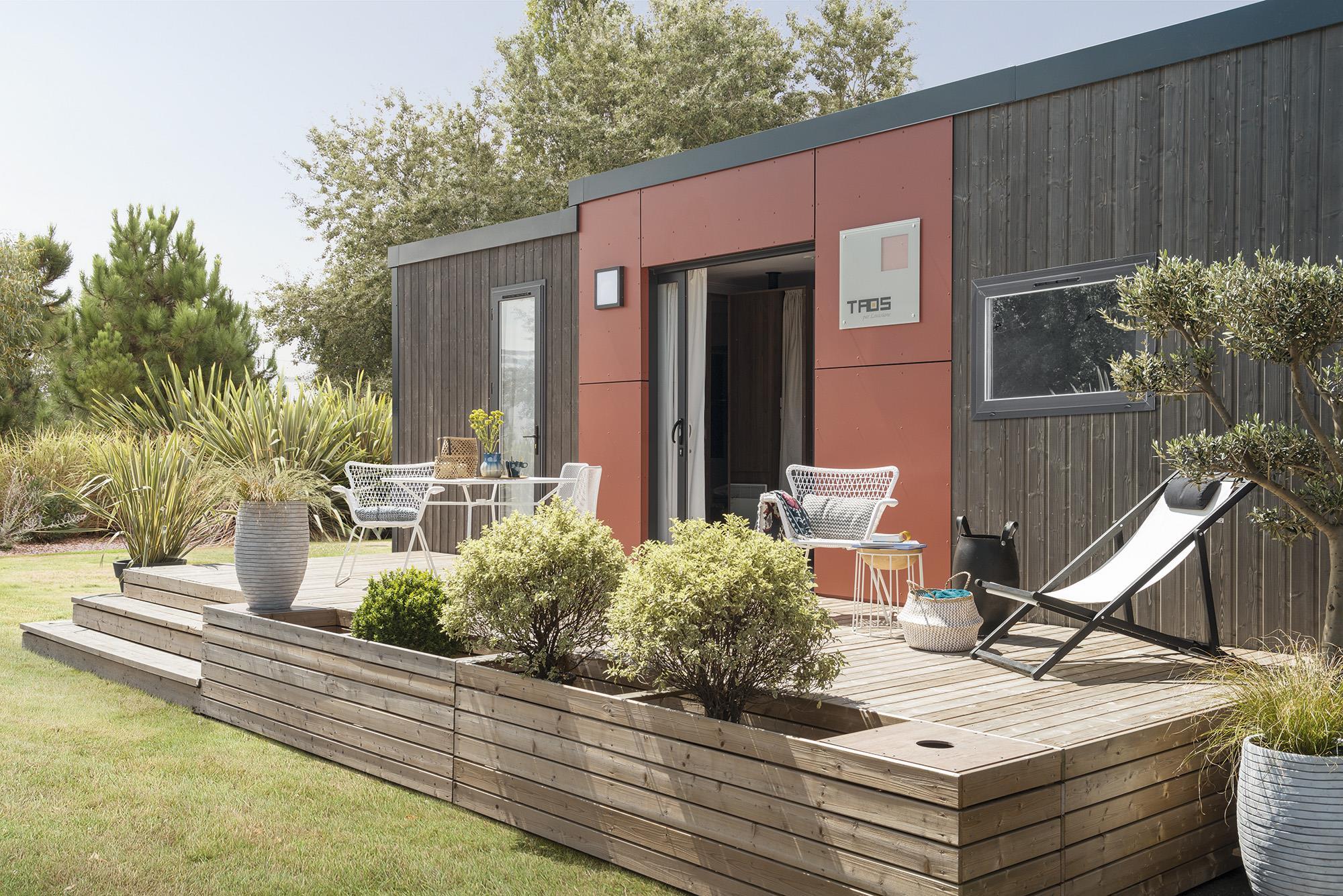 Location - S-Cottage Privilège Taos 5 Avel Vor Avec Pergola Bioclimatique - Camping Les Embruns