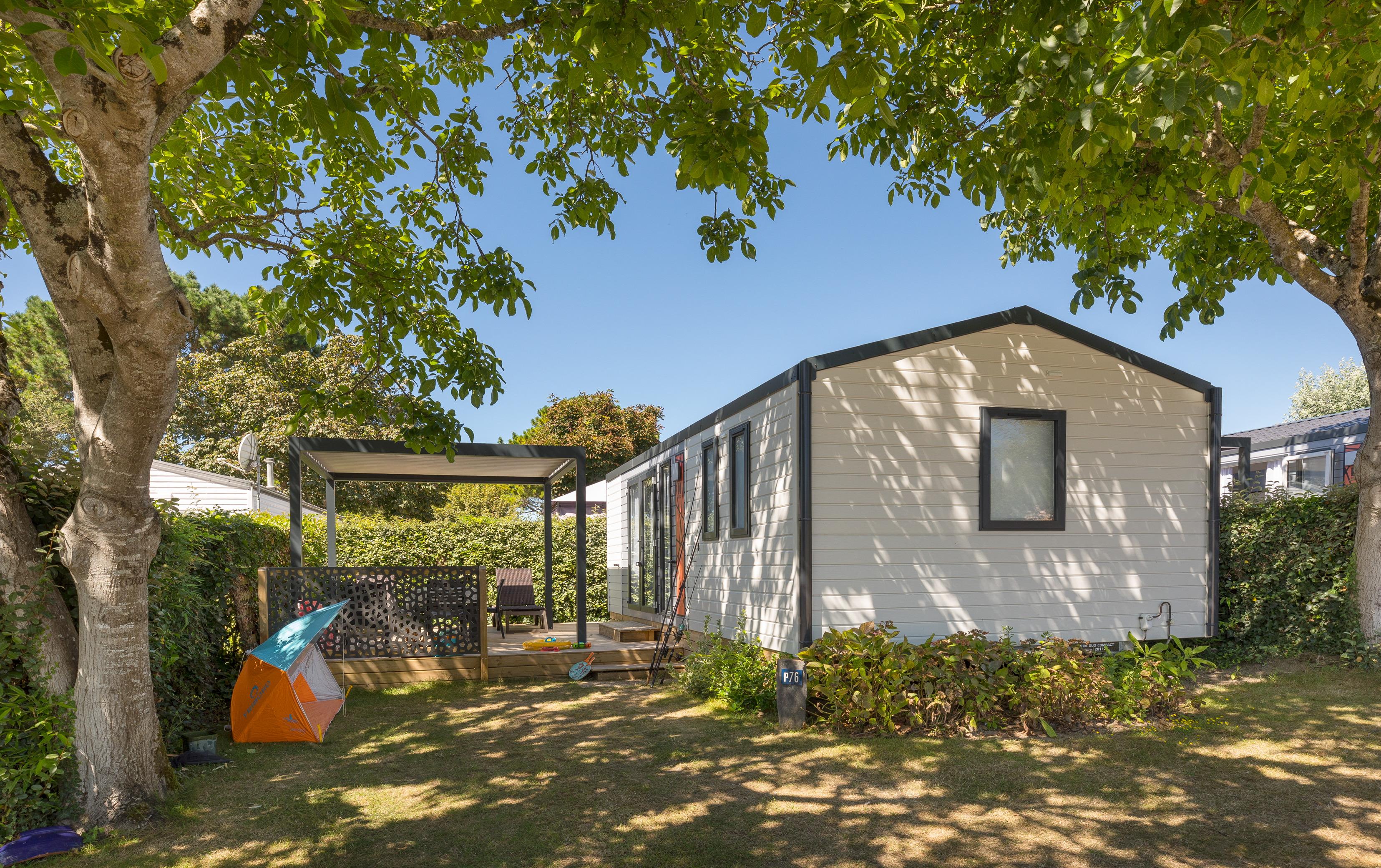Location - V-Cottage Oceania Avec Terrasse - Camping Les Embruns