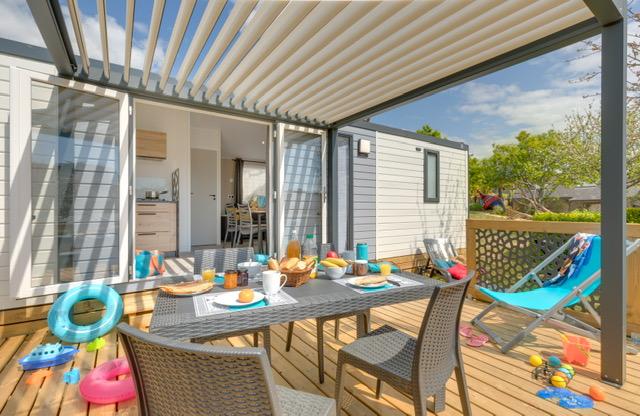 Location - Cottage L'estran - Terrasse + Pergola - Camping Les Embruns