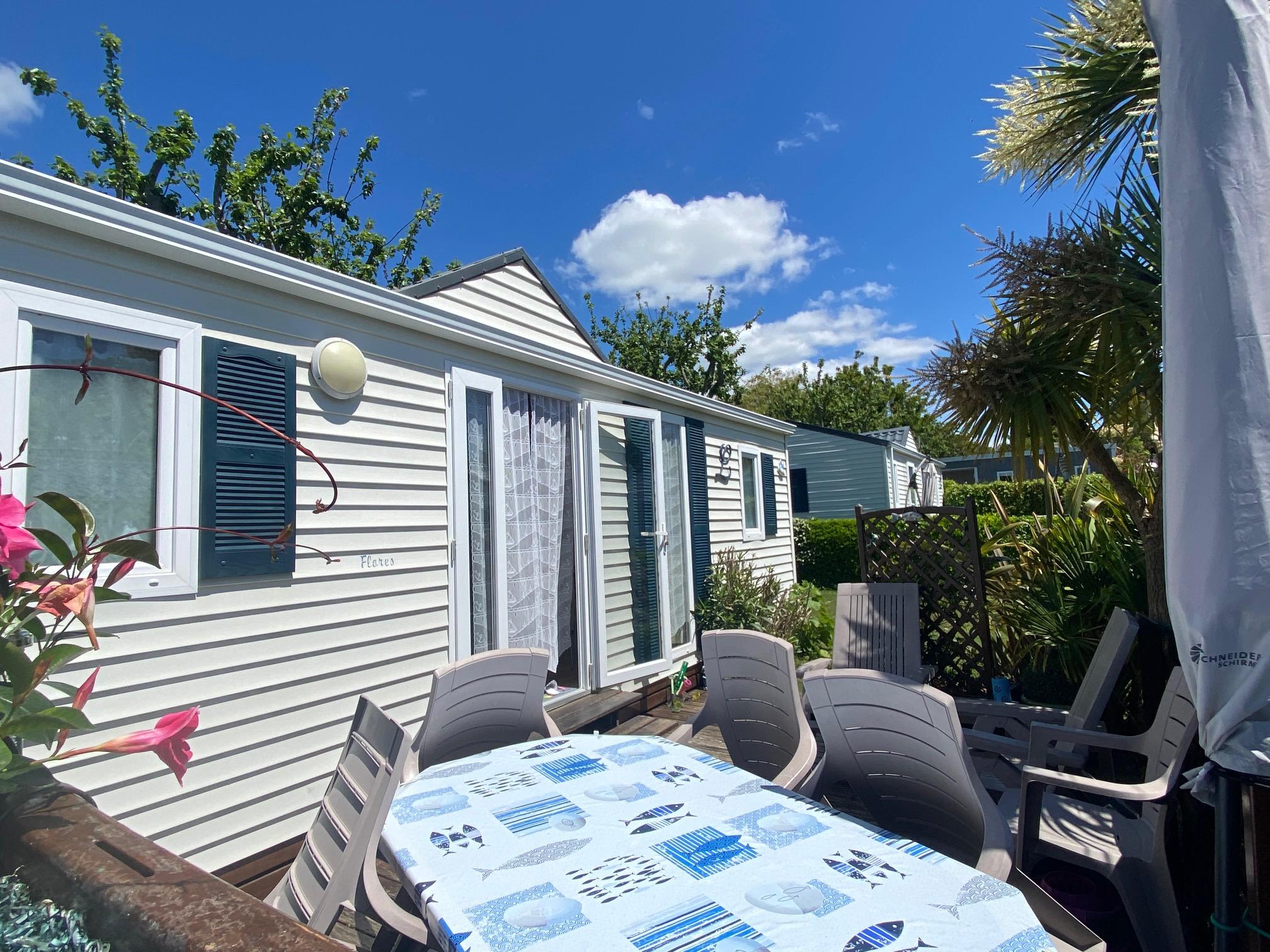 Location - Location Cottage 2 Chambres Avec Terrasse - Camping Les Embruns