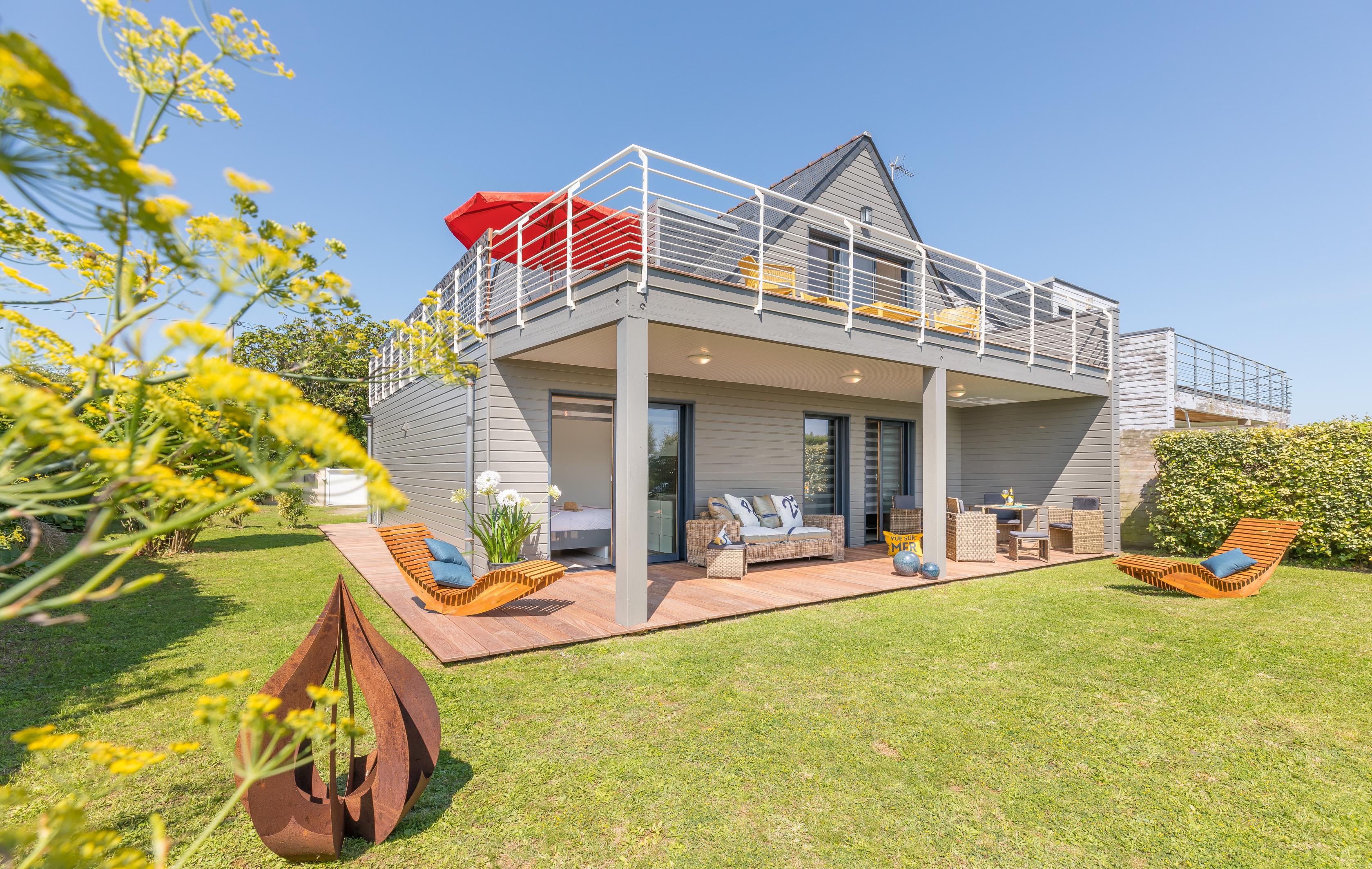 """Location - Villa """"Ty Gwenn -Glazik"""" - À 50 Mètres Des Plages , En Accès Direct , Beau Panorama Sur L'océan - Camping Les Embruns"""
