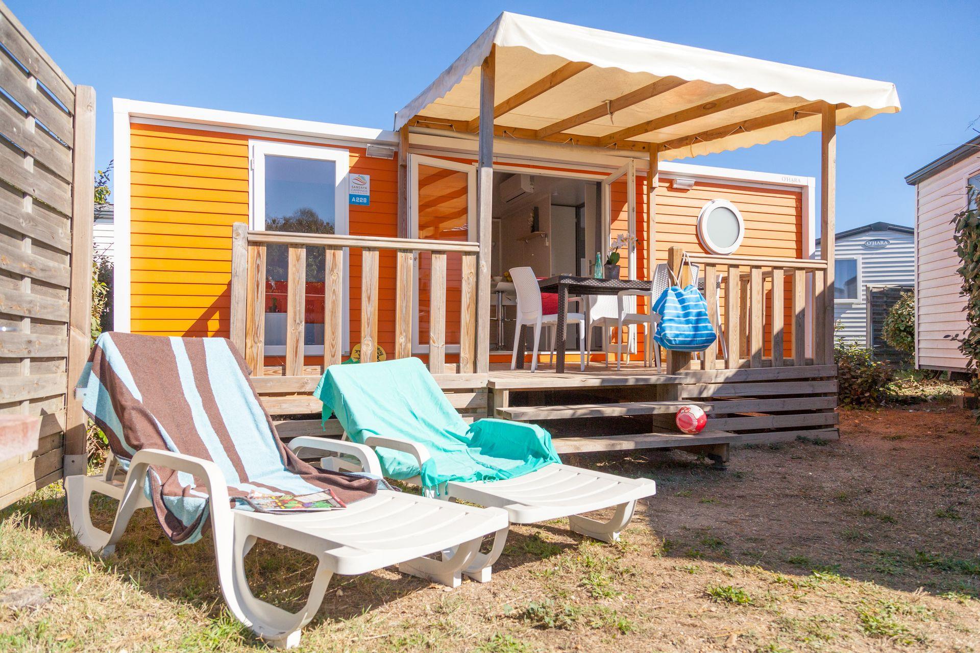 Location - Cottage 2 Chambres Climatisé*** - Camping Sandaya Les Tamaris