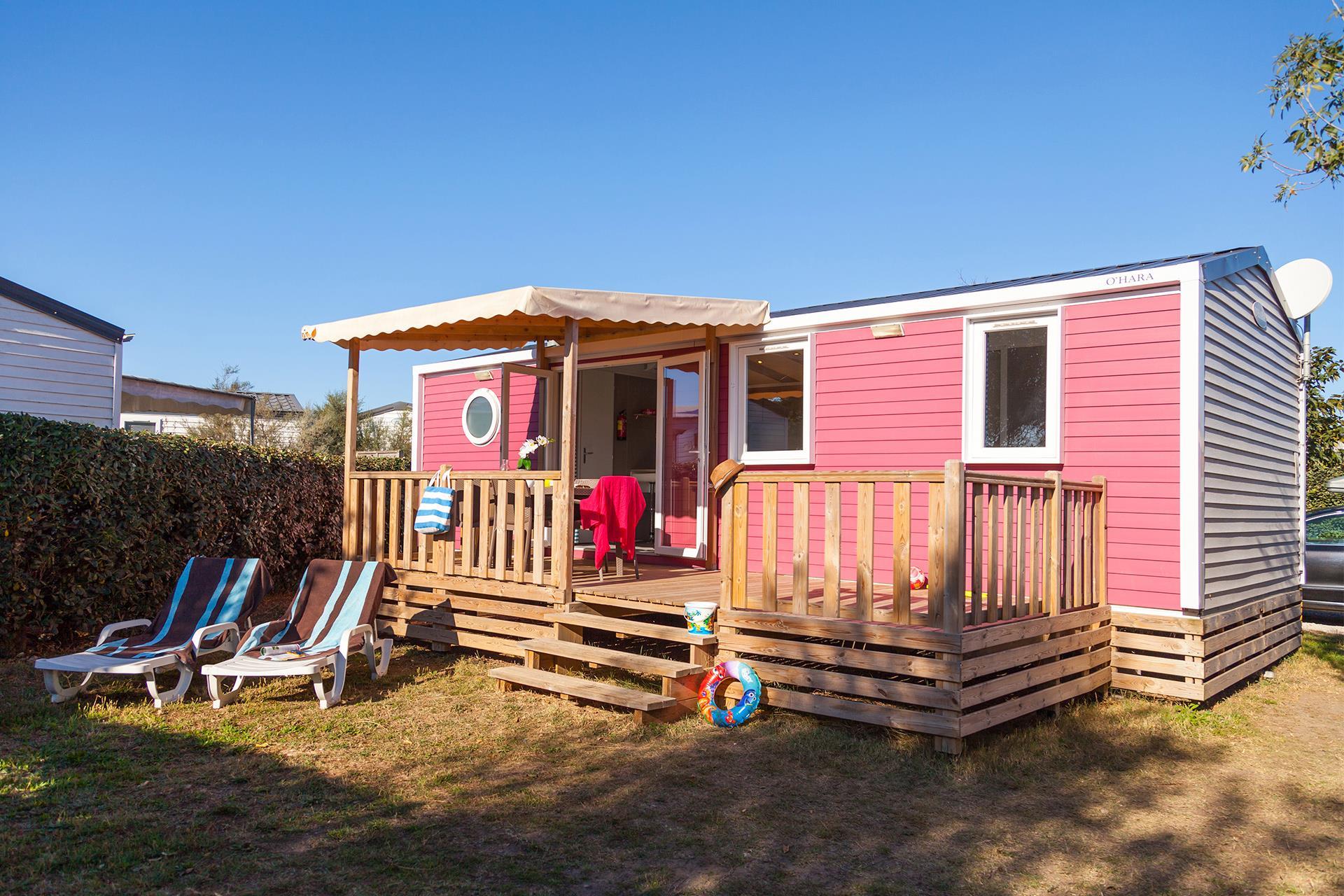 Location - Cottage 3 Chambres Climatisé*** - Camping Sandaya Les Tamaris