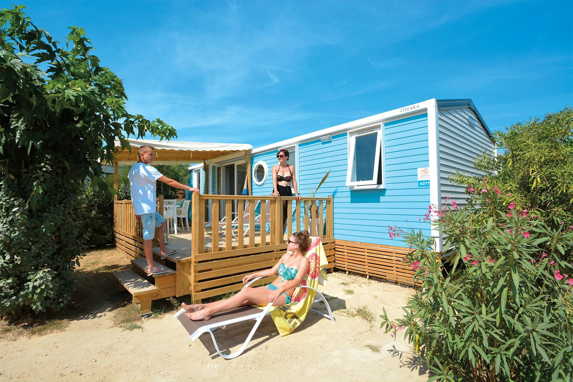 Location - Cottage 3 Chambres - 2 Salles De Bain Climatisé**** - Camping Sandaya Les Tamaris