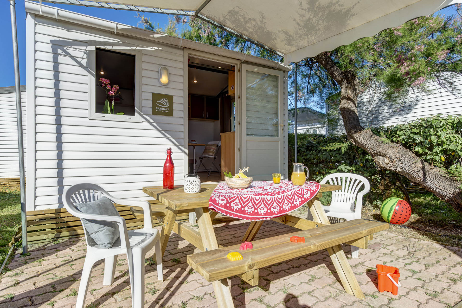 Location - Cottage 1 Chambre* (Sans Sanitaire) - Camping Sandaya Les Tamaris