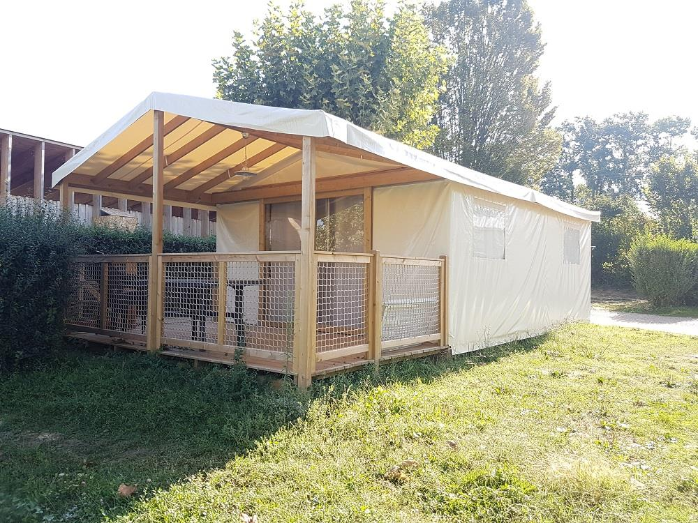 Accommodation - Tent Sahari Adapted To The People With Reduced Mobility - 25M² - Camping Lac du Lit du Roi