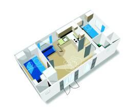 Location - Mobil-Home Louisiane Flores  2 Chambres (Côté Plage / Piscine) - Camping Les Saules