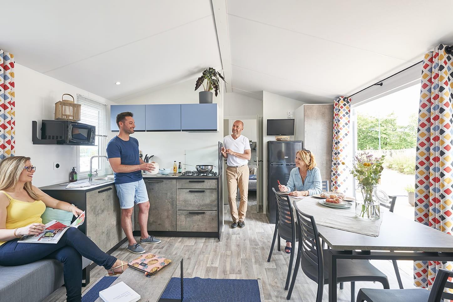 Location - Mobil Home Nirvana Espace (Côté Plage)- 4 Chambres - Camping Les Saules