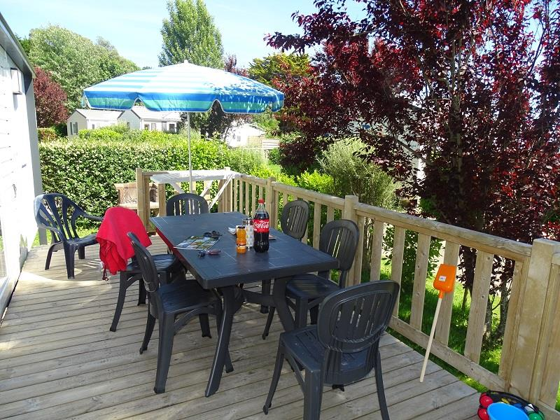 Location - Mobil Home Grand Large 2 (Côté Plage) - 2 Chambres - Camping Les Saules