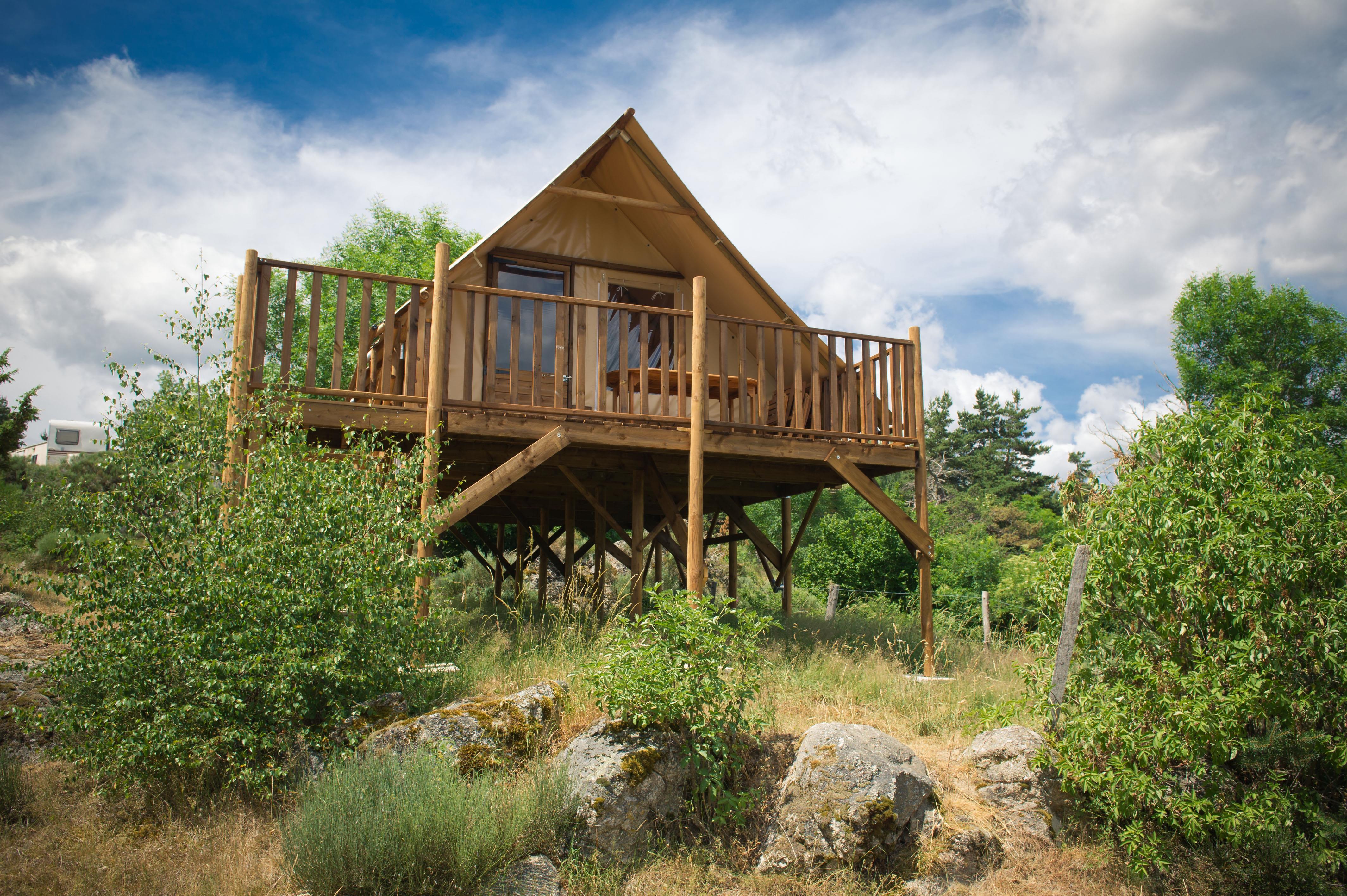 Location - Eco Lodge Sur Pilotis - Camping Rondin des Bois